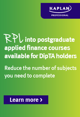 RPL into postgraduate applied finance courses available for DipTA holders